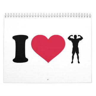 Amo el Bodybuilding Calendarios