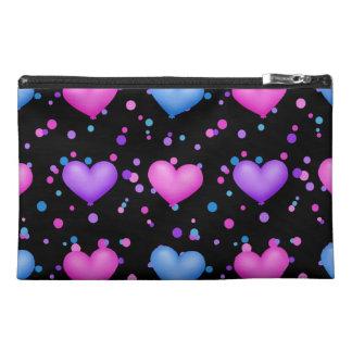 Amo el bolso cosmético grande de los corazones