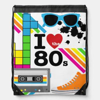 Amo el bolso de la mochila del lazo de los años 80