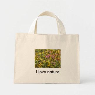 Amo el bolso de la naturaleza bolsa