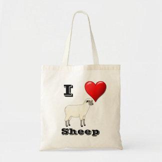 Amo el bolso de las ovejas bolsa tela barata