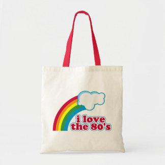 Amo el bolso de los años 80 bolsa tela barata