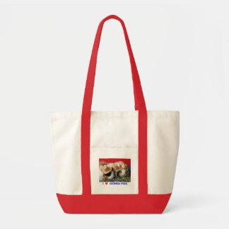 Amo el bolso de los conejillos de Indias Bolsa Tela Impulso