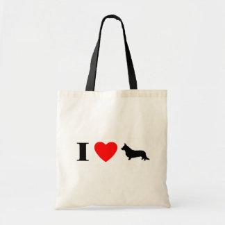 Amo el bolso de los Corgis Galés de la rebeca Bolsa