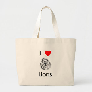 Amo el bolso de los leones bolsas lienzo