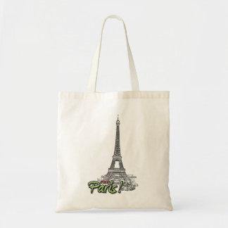 Amo el bolso de París Bolsa Tela Barata