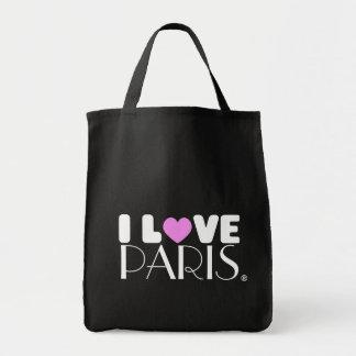 Amo el bolso de París el | Bolsa Tela Para La Compra