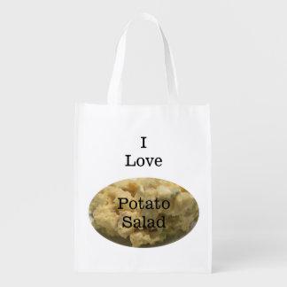 Amo el bolso de ultramarinos reutilizable de la bolsas de la compra