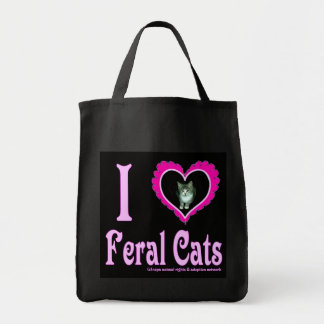 Amo el bolso de ultramarinos salvaje de los gatos bolsas de mano