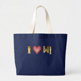 Amo el bolso de WISCONSIN Bolsa Tela Grande