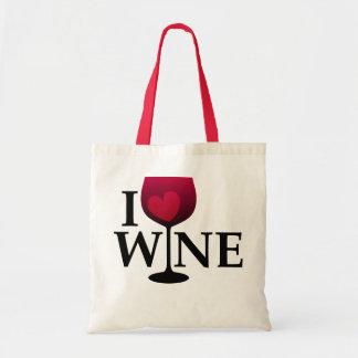 Amo el bolso del vino bolsa tela barata