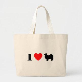 Amo el bolso finlandés de Lapphunds Bolsas De Mano