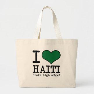 Amo el bolso resuable de Haití Bolsa Tela Grande