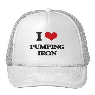 Amo el bombear del hierro gorros bordados