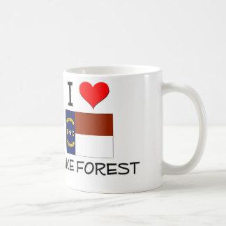 Amo el bosque Carolina del Norte de la estela Taza Básica Blanca