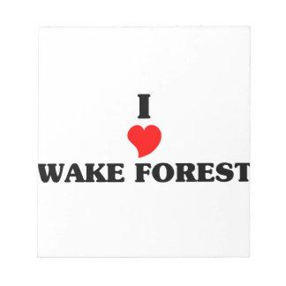Amo el bosque de la estela blocs de papel