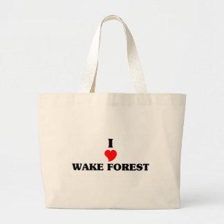 Amo el bosque de la estela bolsa tela grande