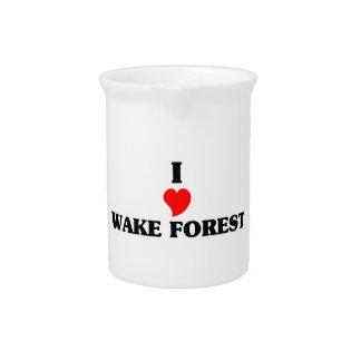 Amo el bosque de la estela jarra para bebida