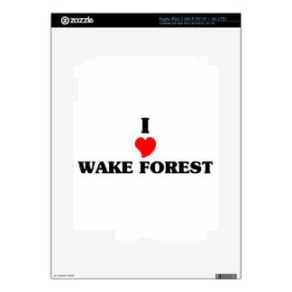 Amo el bosque de la estela pegatinas skins para iPad 3