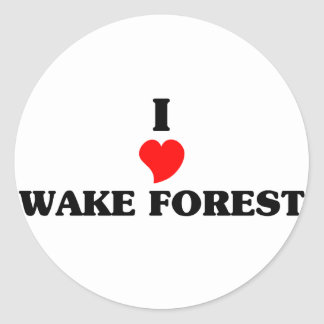 Amo el bosque de la estela pegatina redonda