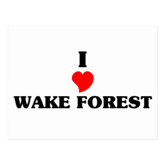 Amo el bosque de la estela tarjeta postal