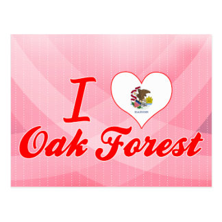 Amo el bosque del roble, Illinois Tarjetas Postales