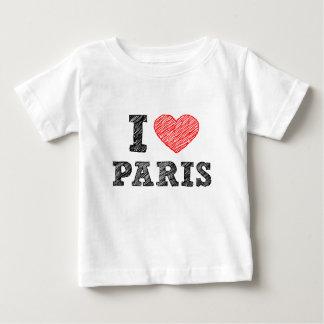 Amo el bosquejo de París Playera De Bebé