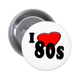 Amo el botón 80s pins