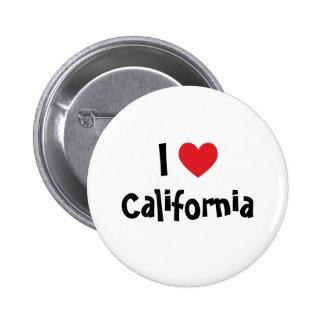 Amo el botón de California Pin Redondo De 2 Pulgadas