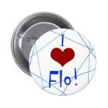 Amo el botón de Flo Pins