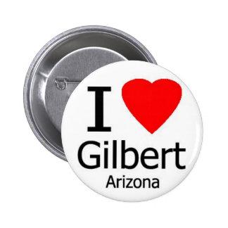 Amo el botón de Gilbert AZ Pin Redondo De 2 Pulgadas