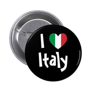Amo el botón de Italia Pin