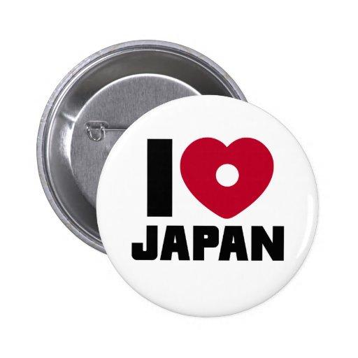 Amo el botón de Japón