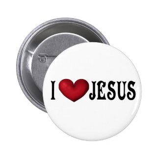 Amo el botón de Jesús Pin Redondo De 2 Pulgadas