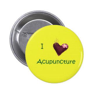 Amo el botón de la acupuntura pin redondo de 2 pulgadas