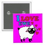 Amo el botón de la oveja pins