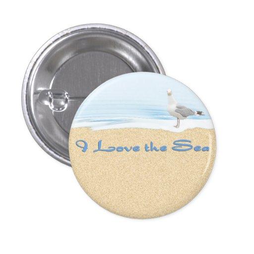 Amo el botón de la playa