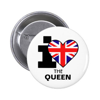 Amo el botón de la reina pin redondo de 2 pulgadas