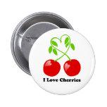 Amo el botón de las cerezas pin