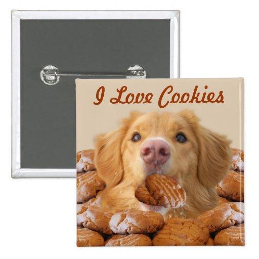 Amo el botón de las galletas pins