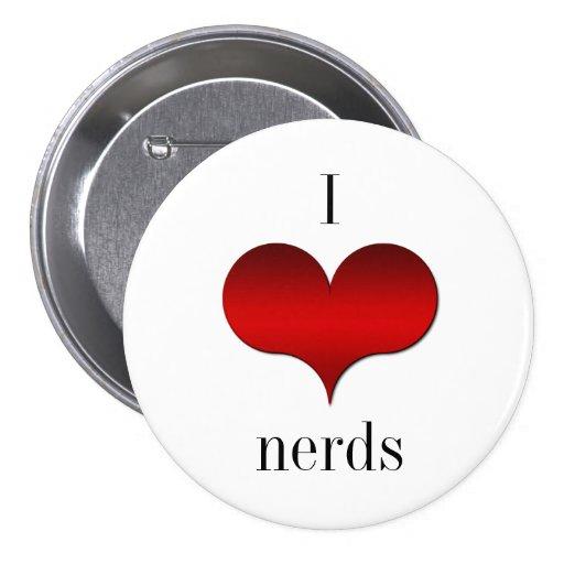 Amo el botón de los empollones (del corazón)