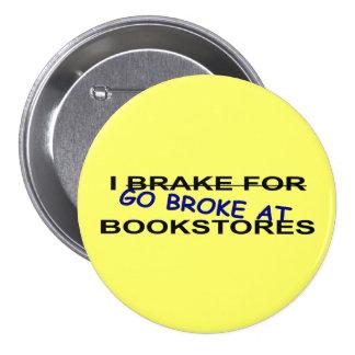 Amo el botón de los libros para los gusanos de lib pin redondo de 3 pulgadas