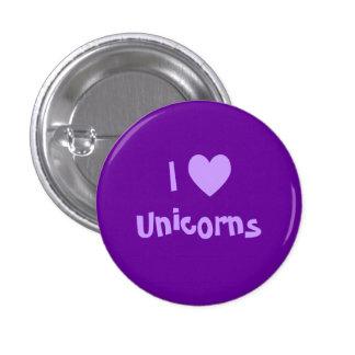 Amo el botón de los unicornios pin
