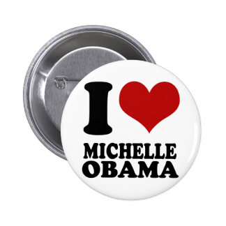 Amo el botón de Michelle Obama Pin Redondo De 2 Pulgadas