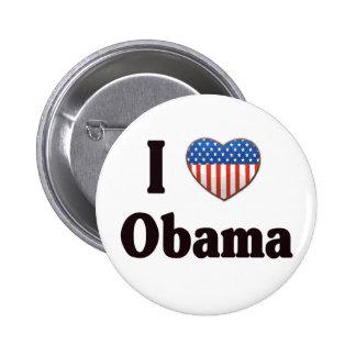 Amo el botón de Obama Pin Redondo De 2 Pulgadas