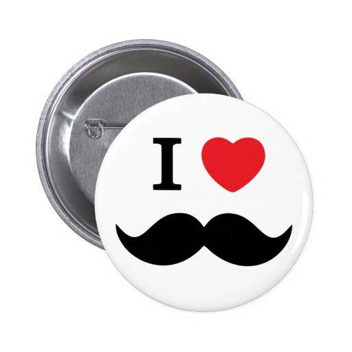 Amo el botón del bigote pins