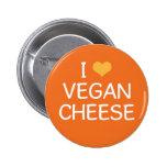 Amo el botón del queso del vegano pins