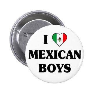 Amo el botón mexicano de los muchachos pin redondo de 2 pulgadas