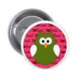 Amo el botón trasero del Pin de los búhos
