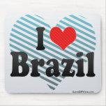 Amo el Brasil Alfombrillas De Raton